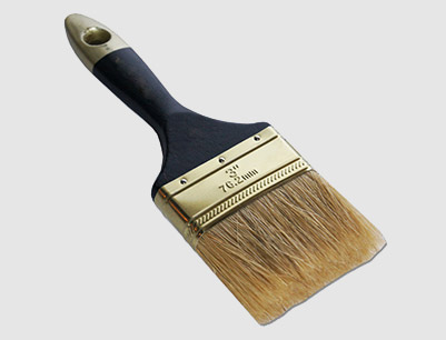 3 in. Wood Handle Bristle Paint Brush